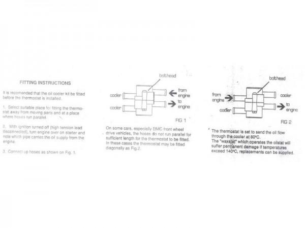 Schlauch-Thermostat Dash 10 für Ölkühler