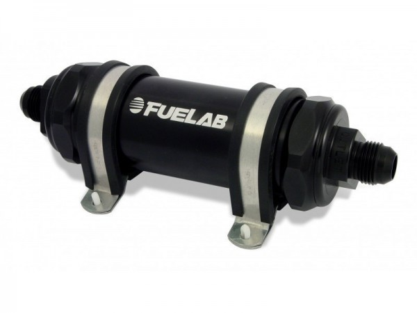 FueLab Benzinfilter / Kraftstofffilter mit Rückschlagventil 75micron -8AN