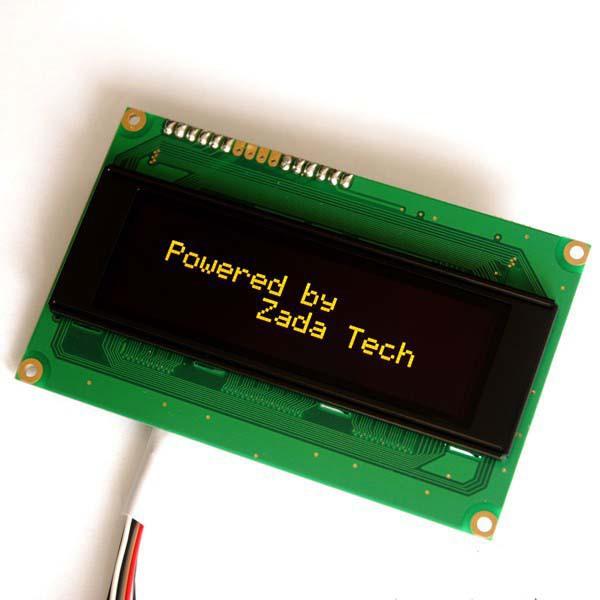 Zada Tech OLED Display 20x4 / Gelb